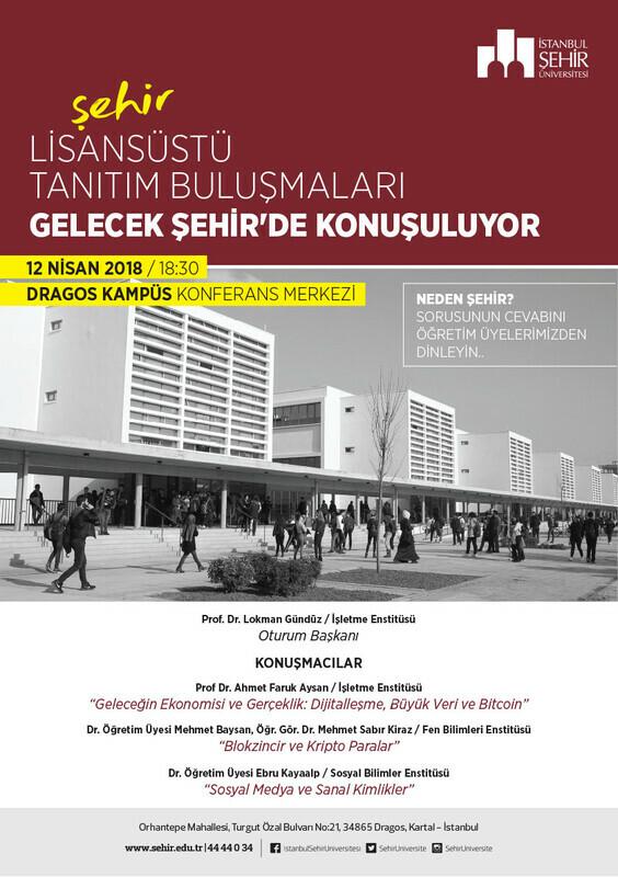 İstanbul Şehir Üniversitesi Lisansüstü Programları 12 Nisan'da Tanıtılacak