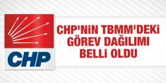 CHP'nin TBMM'deki görev dağılımı belli oldu