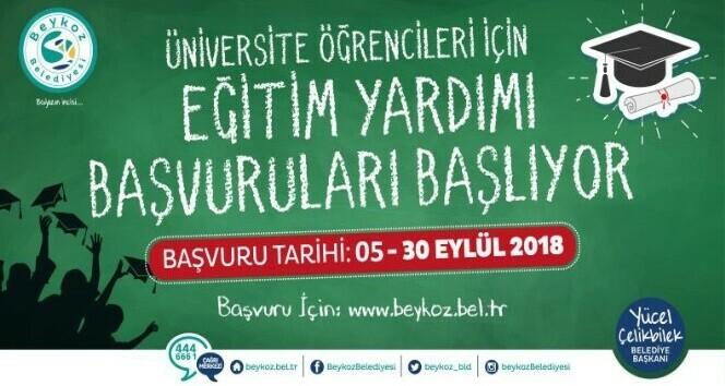 Beykoz Belediyesinden öğrencilere eğitim yardımı