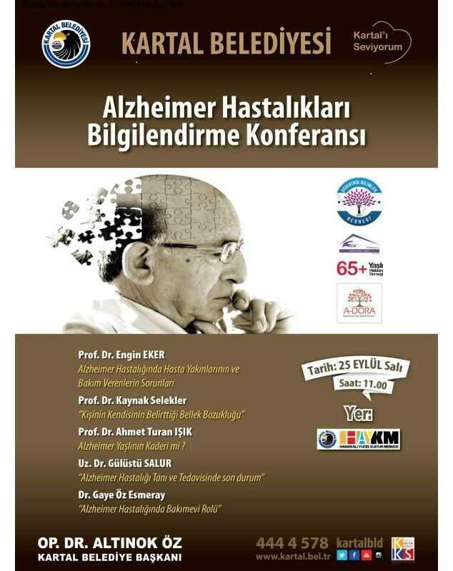 KARTAL BELEDİYESİ'NDEN ALZHEİMER HASTALIKLARI BİLGİLENDİRME KONFERANSI