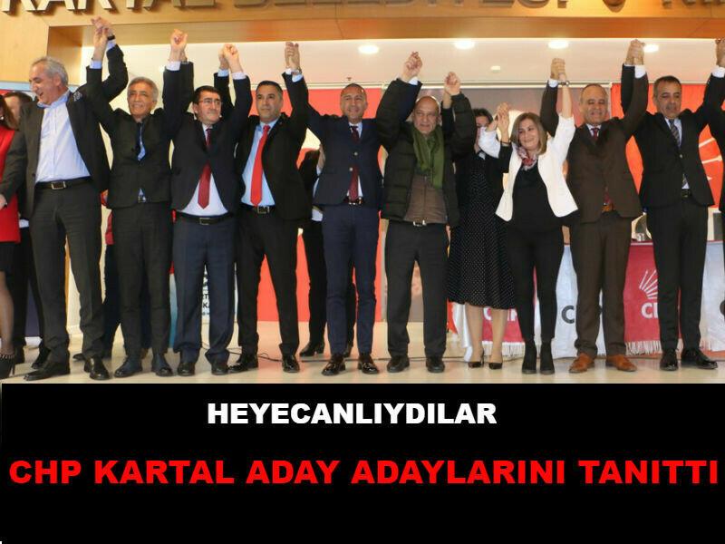 CHP KARTAL ADAY ADAYLARINI TANITTI