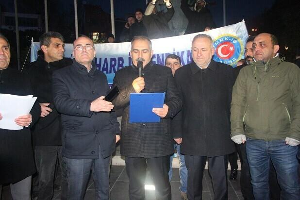 TÜRK HARB-İŞ SENDİKASI SOKAĞA İNDİ