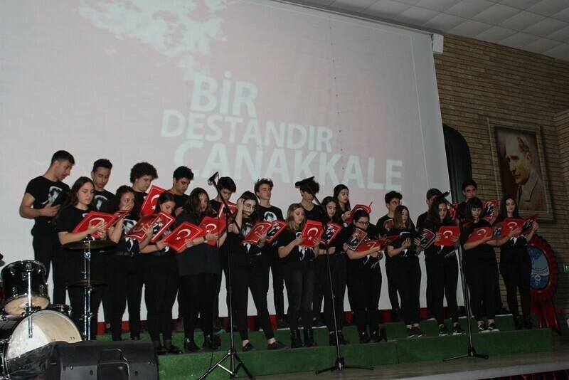 Ahmet Şimşek'te Çanakkale Zaferi anlatıldı, şehitler anıldı.