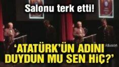Atatürk'ün adı anılmayınca albay, salonu terk etti!
