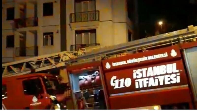 Kartal'da korkutan yangın! 15 kişi kurtarıldı