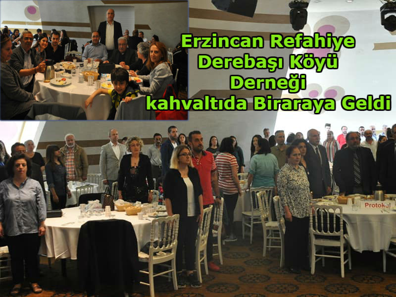 Derebaşı Köyü Derneğinden kahvaltı programı.