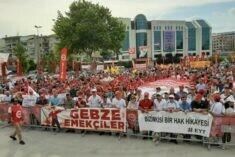 Kartal'da İşçiler Haklarına Sahip Çıktı