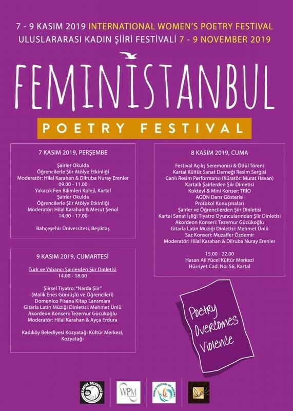Kartal Belediyesi Uluslararası FeminİSTANBUL Şiir Festivali'ne Ev Sahipliği Yapıyor