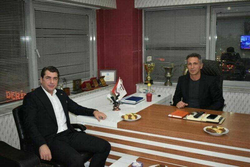 DEMOKRAT PARTİ İSTANBUL İL BAŞKAN'I E.ERAY ARDA KARTALSPOR'U ZİYARET ETTİ