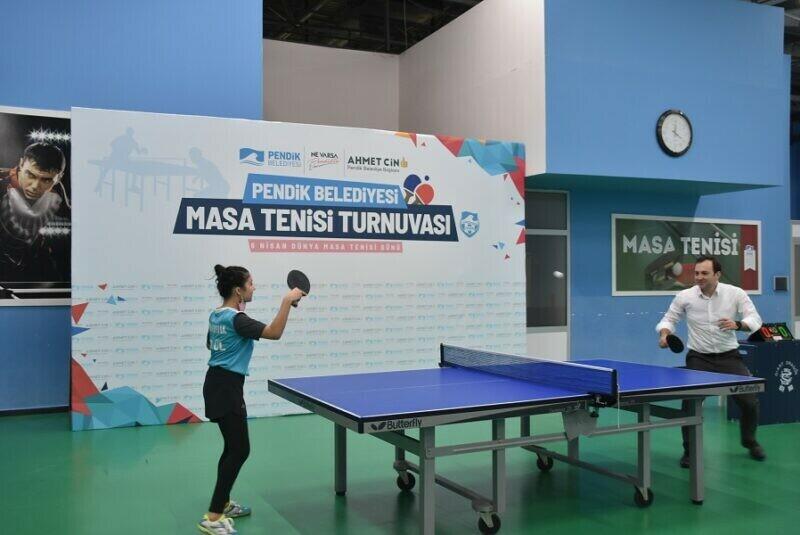Dünya Masa Tenisi Gününde Sporcu Çocuklar Yarıştı