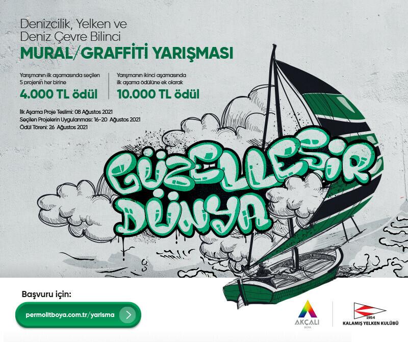 DENİZCİLİK, YELKEN VE DENİZ ÇEVRE BİLİNCİ MURAL / GRAFFITI YARIŞMASI BAŞLIYOR